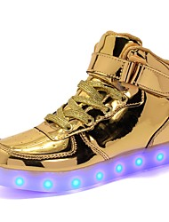 cheap -Boys' / Girls' Shoes PU(Polyurethane) Spring / Fall Light Soles / Light Up Shoes Sneakers LED for Gold / Silver / Pink / Party & Evening