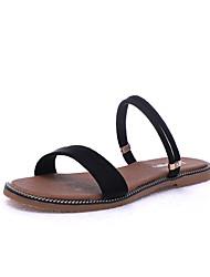 preiswerte -Damen Schuhe PU Sommer Fersenriemen Sandalen Blockabsatz Runde Zehe Kombination Gelb / Rosa / Mandelfarben