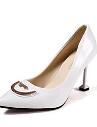 preiswerte -Damen Schuhe PU Frühling Sommer Pumps High Heels Stöckelabsatz Spitze Zehe Strass für Normal Party & Festivität Weiß Schwarz Rot Rosa