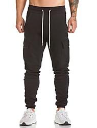 billige Herremode og tøj-Herre Militær Joggingbukser Bukser Ensfarvet