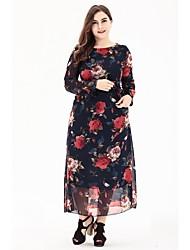 povoljno -Žene Osnovni A kroj Haljina Cvjetni print Maxi