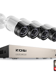 Недорогие -zosi® 4ch система безопасности cctv dvr система безопасности 4ch 1tb 4 x 1080p камера безопасности 2.0mp камера diy kit