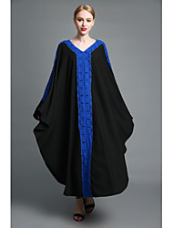 cheap -BENEVOGA Women's Sophisticated Street chic Tunic Swing Abaya Dress - Color Block, Lace Cut Out