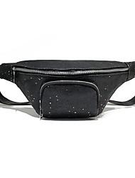 baratos -Mulheres Bolsas PU Sling sacos de ombro Ziper Prata / Vermelho / Cinzento