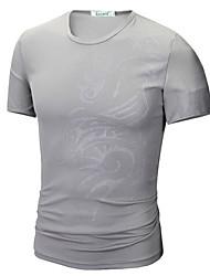 billige Herremode og tøj-Herre - Geometrisk Basale T-shirt