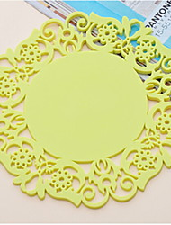 cheap -Contemporary Plastic Round Placemat Solid Colored Table Decorations