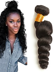 cheap -Brazilian Hair Wavy Human Hair Weaves 4pcs Hot Sale Extention Natural Color Hair Weaves Human Hair Extensions All Christmas Gifts