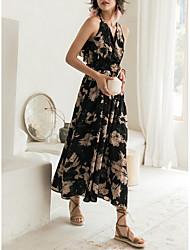 abordables -Mujer Chic de Calle Vaina Vestido Floral Maxi