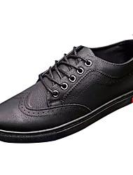 お買い得  -男性用 靴 合成マイクロファイバーPU 春 秋 コンフォートシューズ スニーカー のために カジュアル ブラック グレー