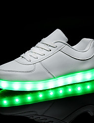 cheap -Men's / Women's Shoes PU(Polyurethane) Spring / Fall Comfort / Light Up Shoes Sneakers Flat Heel LED White / Black