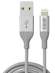Недорогие -Подсветка Адаптер USB-кабеля Быстрая зарядка Высокая скорость Кабель Назначение iPhone 200cm Нейлон