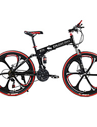 cheap -Folding Bike Mountain Bike Cycling 21 Speed 26 Inch / 700CC SHIMANO TX30 Double Disc Brake Springer Fork Rear Suspension Ordinary /