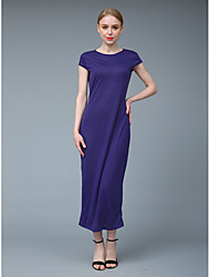 cheap -Women's Sophisticated Street chic Bodycon Sheath Dress - Solid Colored