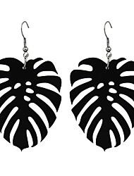 Недорогие -Серьги-слезки - В форме листа Мода Черный Назначение Подарок / Свидание