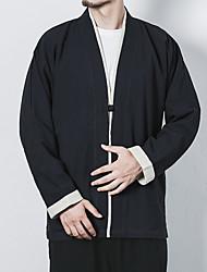 Недорогие -Муж. Куртка Шинуазери (китайский стиль) - Однотонный