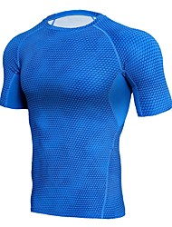 cheap -Men's Hiking T-shirt Outdoor Quick Dry Stretchy Breathability Lightweight T-shirt N / A Road Cycling Camping / Hiking Outdoor Exercise
