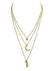 Недорогие -Жен. В форме листа MOON Звезда Стразы Слоистые ожерелья  -  Простой На каждый день Золотой 51.5cm Ожерелье Назначение Вечеринка / ужин