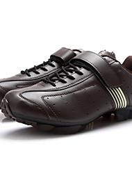abordables -Tiebao® Calzado para Mountain Bike Fibra de Carbono A prueba de resbalones, Listo para vestir, Transpirabilidad Ciclismo Marrón Hombre