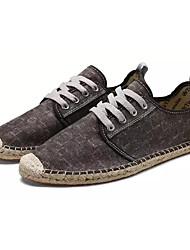 お買い得  -男性用 靴 繊維 夏 秋 コンフォートシューズ スニーカー のために アウトドア ブラック Brown ブルー