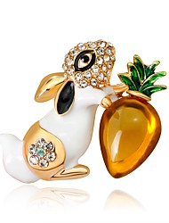 cheap -Women's Rabbit Brooches - Animals / Fashion / European White / Black Brooch For Gift / Daily