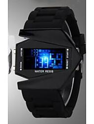 Недорогие -Муж. Для пары Повседневные часы Спортивные часы Модные часы Цифровой Календарь Фосфоресцирующий Повседневные часы силиконовый Группа Цифровой Роскошь На каждый день Черный / Белый / Синий -