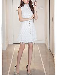 povoljno -Žene Ulični šik A kroj Haljina Jednobojni Iznad koljena