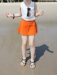 abordables -Ensemble de Vêtements Fille Quotidien Couleur Pleine Coton Fibre de bambou Printemps Manches courtes Décontracté Blanc