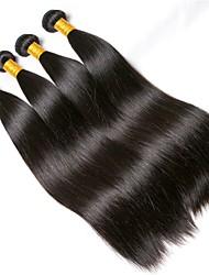 Недорогие -4 Связки Бразильские волосы Прямой 8A Натуральные волосы Накладки из натуральных волос Естественный цвет Ткет человеческих волос Удлинитель Горячая распродажа Расширения человеческих волос Все