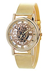 cheap -Women's Fashion Watch Chinese Large Dial Alloy Band Casual / Fashion Silver / Gold / One Year