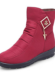 povoljno -Žene Cipele Tkanina Proljeće Zima Čizme za snijeg Čizme Wedge Heel Čizme gležnjače / do gležnja za Kauzalni Crn Sive boje Crveni Drak