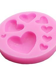 Недорогие -1pc 8 отверстий форма сердца силиконовая форма торта шоколад мыло трафареты выпечка кастрюля fondend пирожные diy инструменты кухонные принадлежности