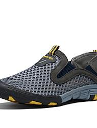 お買い得  -男性用 靴 レザー レザーレット 春 夏 コンフォートシューズ ローファー&スリップアドオン のために カジュアル グレー Brown グリーン