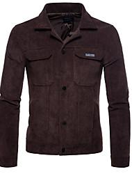 Недорогие -Муж. Куртка Активный - Однотонный