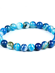 cheap -Men's Women's Bohemian Bracelet Strand Bracelet - Bohemian Fashion Circle Light Blue Bracelet For Birthday Evening Party