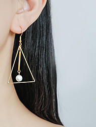 cheap -Long Drop Earrings - Pearl, Sterling Silver Korean, Fashion Gold For Party / Evening / Gift