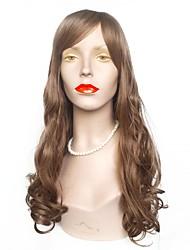 Недорогие -Парики из искусственных волос Волнистый Стрижка каскад Искусственные волосы Природные волосы Коричневый Парик Жен. Длинные Без шапочки-основы