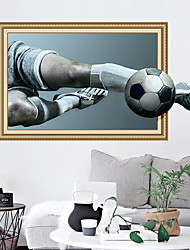 abordables -Stickers muraux Autocollants muraux décoratifs - Autocollants avion Football 3D Repositionable Amovible
