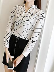 cheap -Women's Vintage Street chic Shirt-Geometric,Print