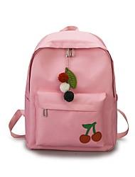 Недорогие -Жен. Мешки холст рюкзак Молнии Черный / Розовый / Серый
