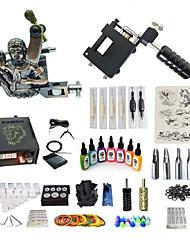 Недорогие -Татуировочная машина Набор для начинающих татуировки машины с 7 x 15 ml татуировки чернила, Переменные скорости, Для профессионалов LCD питания No case
