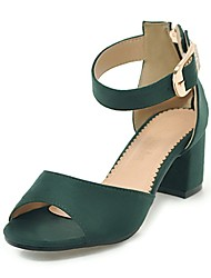 cheap -Women's Shoes Nubuck leather Spring Summer Slingback Heels Chunky Heel for Wedding Office & Career Black Beige Yellow Green Burgundy