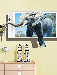 abordables -Calcomanías Decorativas de Pared - Calcomanías 3D para Pared Pegatinas de pared de animales Animales Sala de estar Dormitorio Baño Cocina