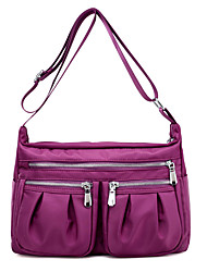 cheap -Women's Bags Nylon Shoulder Bag Zipper Blue / Black / Purple