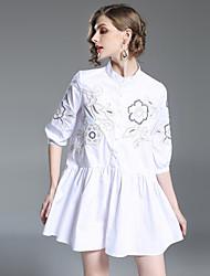 preiswerte -Damen Street Schick Skater Kleid - Bestickt, Blumen Mini Ständer
