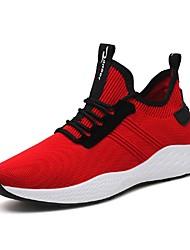 povoljno -Muškarci Cipele Til Mreža Ljeto Svjetleće tenisice Udobne cipele Sneakers Hodanje Trčanje za Kauzalni Vanjski Crn Tamno siva Crvena