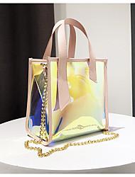 baratos -Mulheres Bolsas PVC / PU Conjuntos de saco 2 Pcs Purse Set Botões Preto / Prata / Rosa