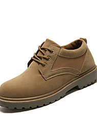 cheap -Men's Shoes PU Spring Fall Combat Boots Comfort Boots Mid-Calf Boots for Casual Black Khaki