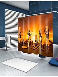 abordables -Rideaux de douche et anneaux Classique Néoclassique Polyester Nouveauté Fabrication à la machine Imperméable Salle de Bain