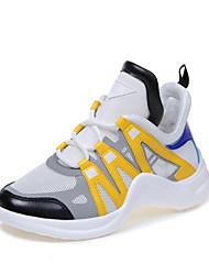 abordables -Mujer Zapatos Licra Primavera / Verano Confort Zapatillas de deporte Tacón Plano Amarillo / Azul / Azul Claro