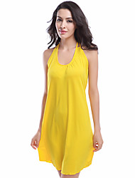 cheap -TS - Cozy Sunshine Women's Cover-Up - Solid Colored, Backless Skirt